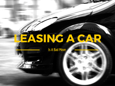 Leasing a car in college is a bad financial move, especially when the math doesn't work out compared to buying a used car.