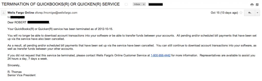 Second Cancellation Wells Fargo Fees