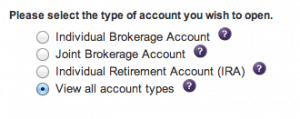 Type of Investment Account