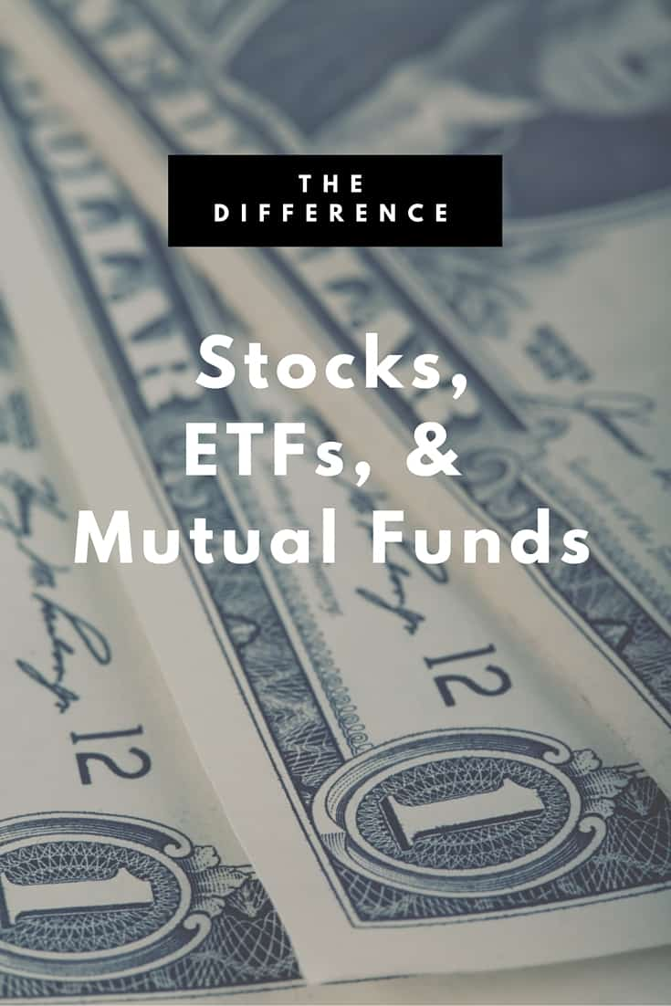 The Difference Between Stocks ETFs and Mutual Funds