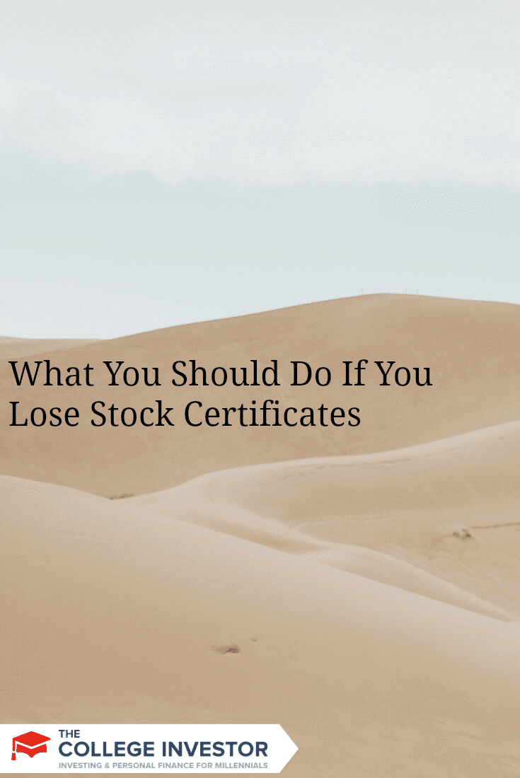 It's possible that you can lose your stock certificates, so here's the step-by-step process for replacing lost stock certificates.