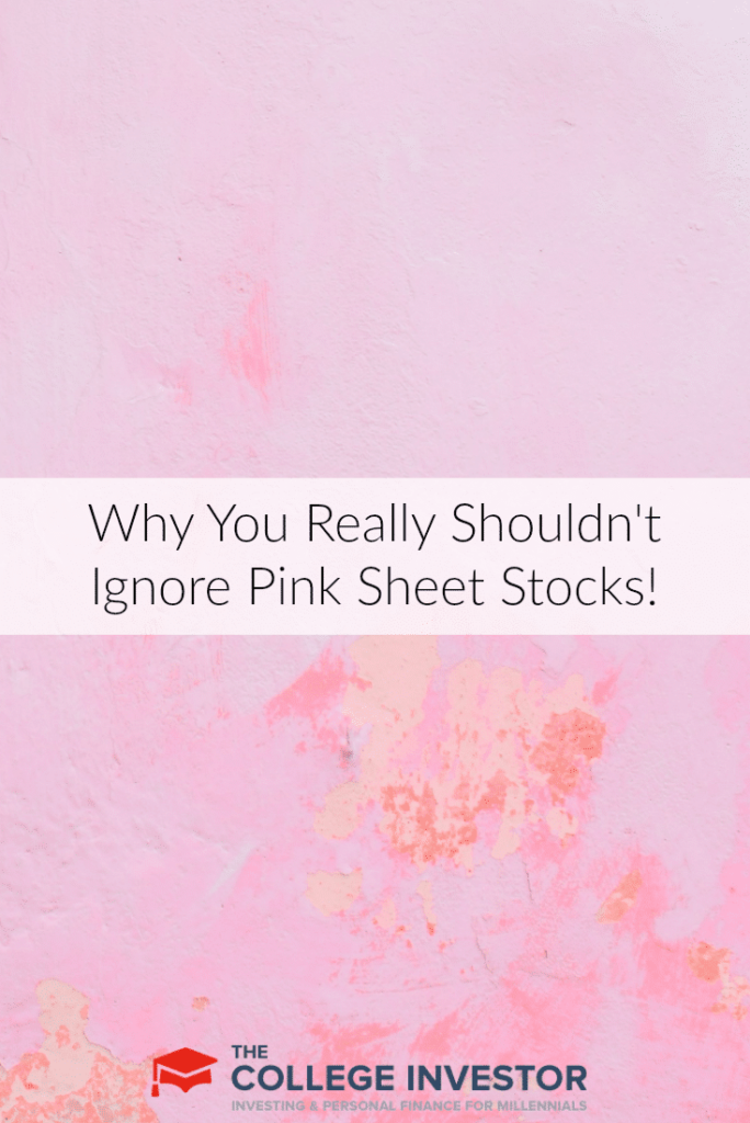 Why You Really Shouldn't Ignore Pink Sheet Stocks!