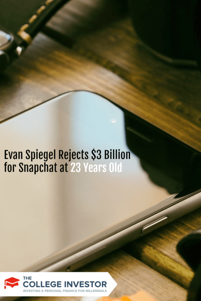 Evan Spiegel Rejects $3 Billion for Snapchat at 23 Years Old