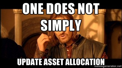 update asset allocation