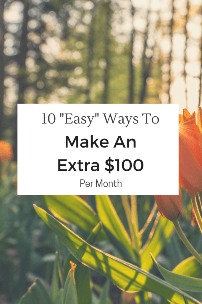 Make An Extra $100 Per Month