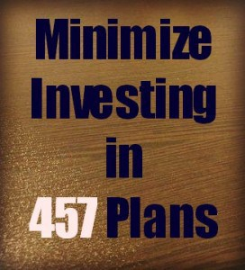 minimize investing in 457 plans