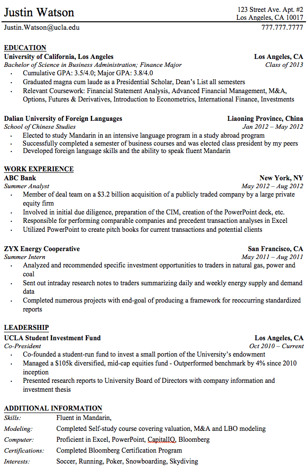 professional resume - How To Make A Resume For College Students
