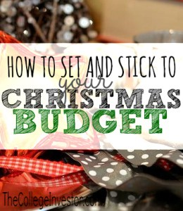 Can you believe we're already in December? In order to keep from over spending you need to set your Christmas budget. Here's how you can do that plus some helpful ways to stick to that budget.