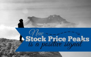 New Stock Price Peaks is a Positive Signal