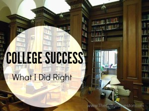 I made plenty of mistakes in college but I also found success. Here's what I did right in college.