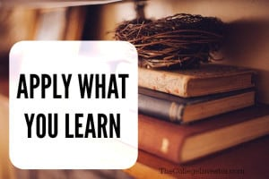 When it comes to investing apply what you learn.