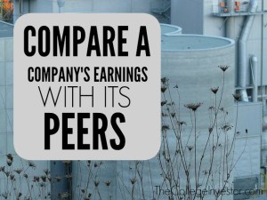 To find a good stock compare a company's earnings with its peers.