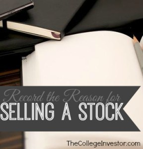 Record the Reason for Selling a Stock