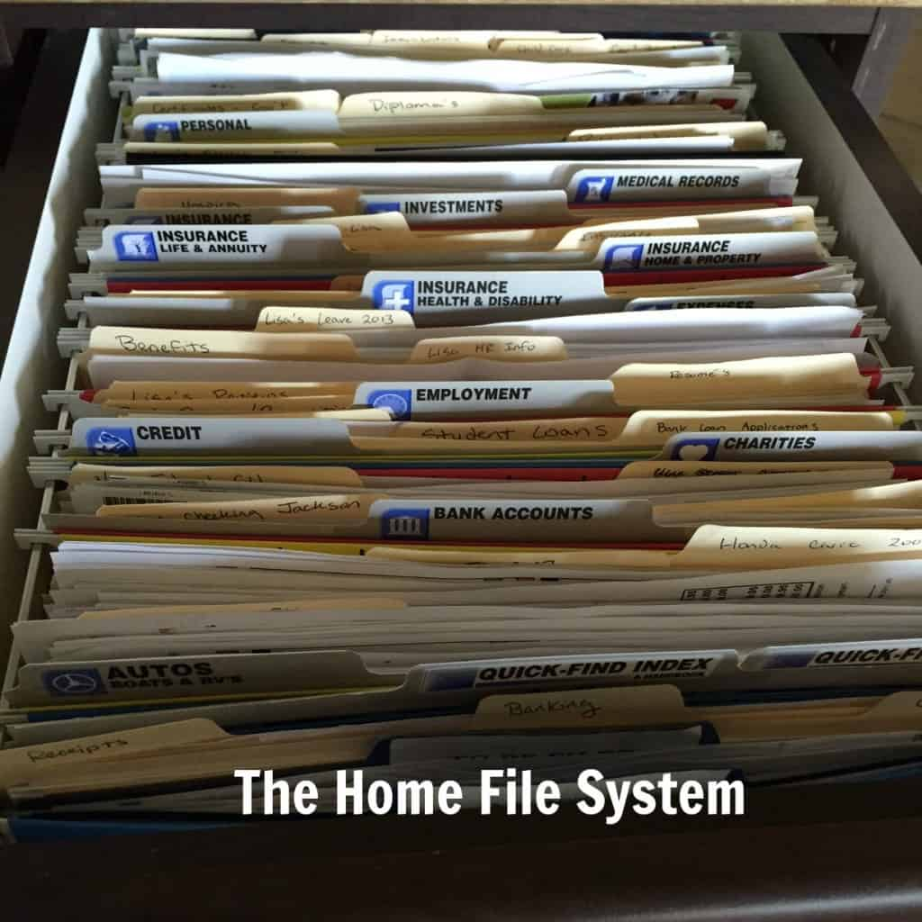 Home Bill Filing System