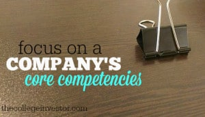 focus on a companies core competencies