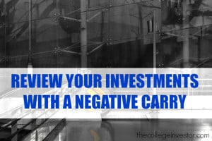 Review your investments with a negative carry.