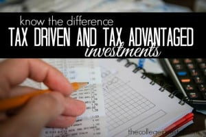 tax driven and tax advantaged investments