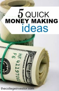 Looking to make money fast? These five quick money making ideas are relatively easy to do and don't require you to be chained to a desk.