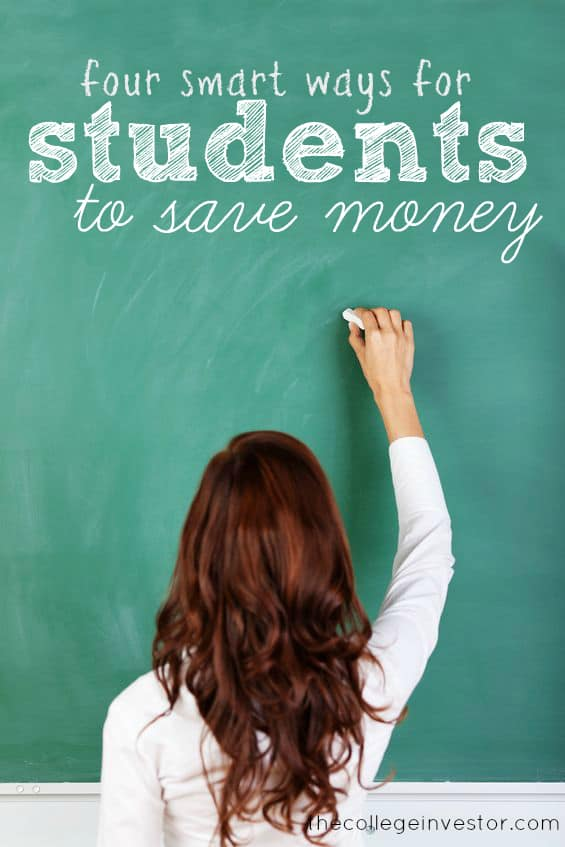 Let's face it - college is expensive and if you're a savvy student, you want to save. Here are four smart ways to save money as a student.