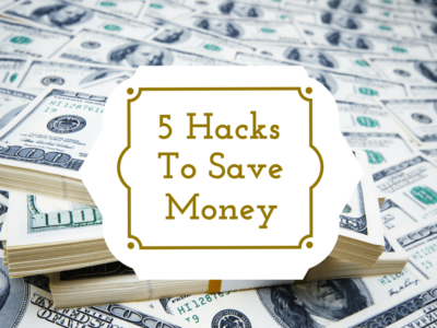 Are you looking for an easier way to save money? Here are five money hacks that will put more money in your savings account.