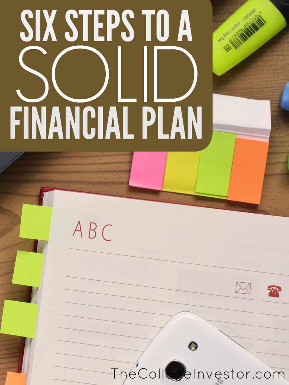 6 elements of a solid personal financial plan