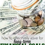 Saving for long term goals can seem so daunting. If you follow these tips you can up your motivation and beat the overwhelm for good!