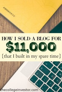 How I Sold My Blog For $11,000 In My Spare Time