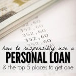 There are many ways you can responsibly use a personal loan to benefit your finances, like paying off high credit card debt for example. Here are five of the best places to get a loan online.
