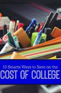 College is an investment in your future but can be REALLY expensive! Here are ten ways to save on the cost of college.