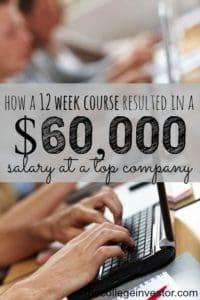 If you want to find a good paying job going to college isn't the only option. Here's how a 12 week course helped my friend get a 60k salary.