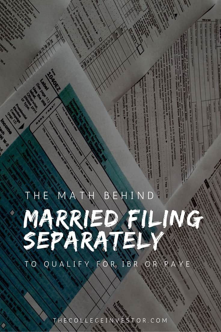 The Math Behind Married Filing Separately For IBR