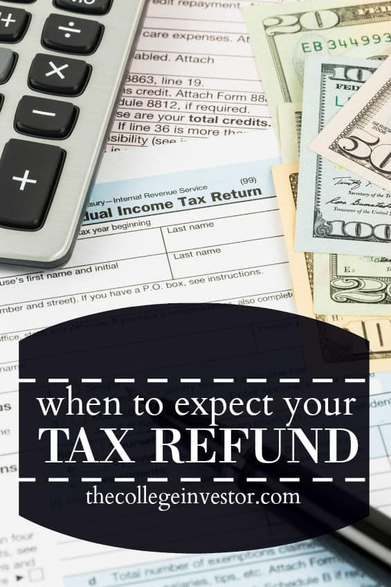 A chart and schedule that shows you when you can expect your tax refund in 2017-2018. Also, how to check the status of your tax refund.