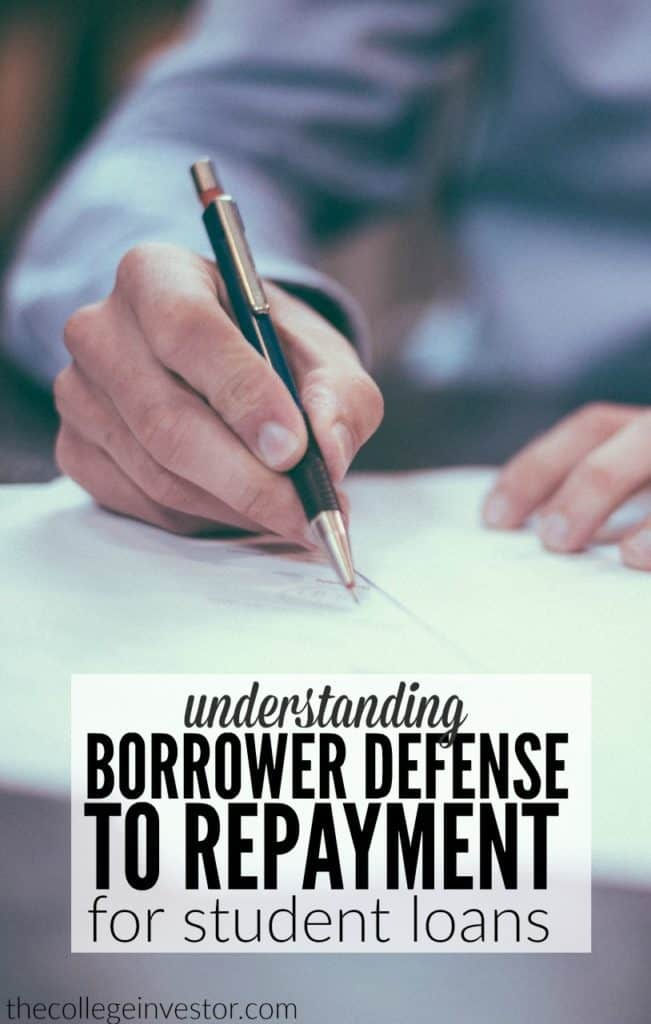 Borrower defense to repayment involves proving that the university or college deceived the student in some way that involved them taking out student loans.