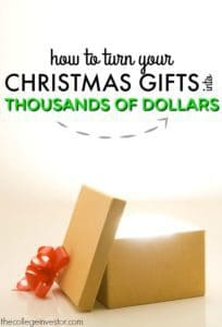 christmas gifts earning money