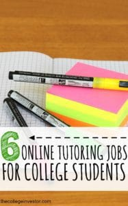 Tutoring jobs are flexible and can pay between $9-$23 per hour for new tutors. Here are six online tutoring jobs for college students.