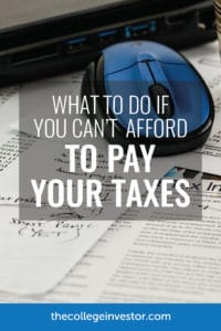 Can't Afford To Pay Your Taxes