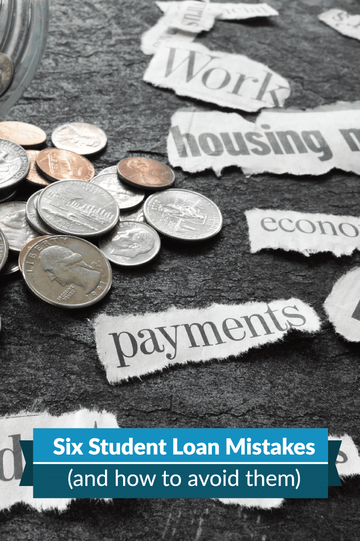 Taking out student loans is a big deal that can affect your financial future. Here are 6 student loan debt mistakes you should avoid.