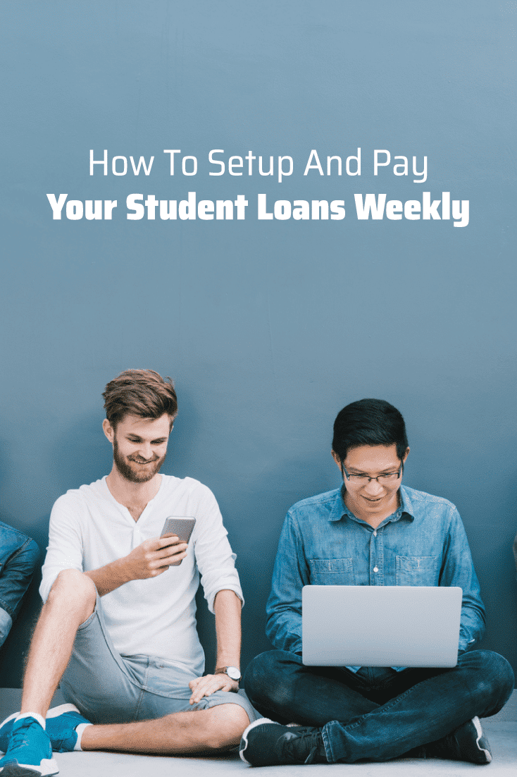 Want to pay off your student loan debt faster? Check out how to set up and pay your student loans weekly.