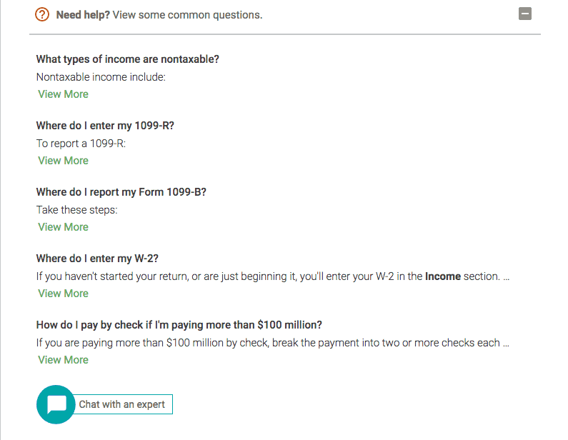 H&R Block Expert Chat