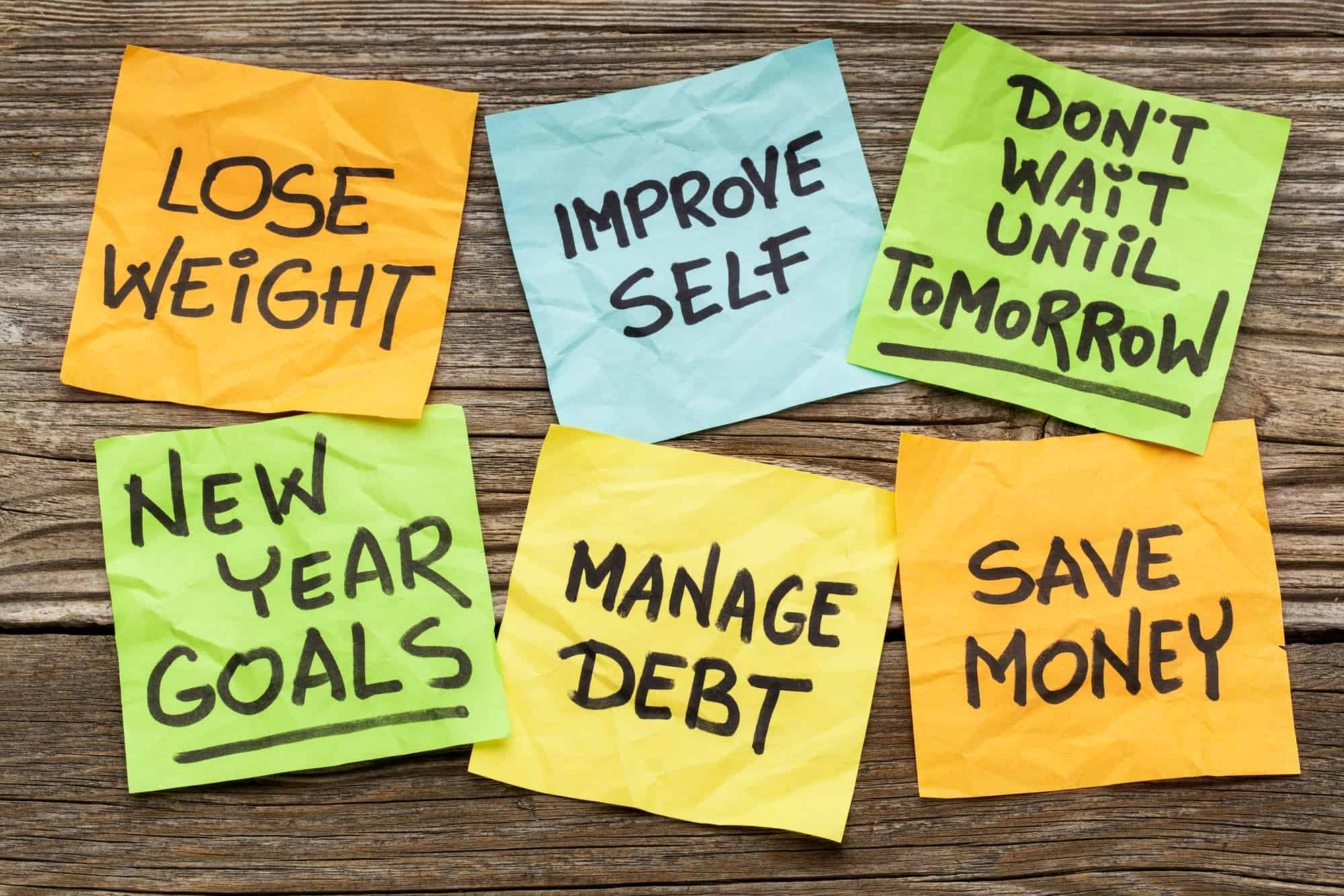 With the New Year in full swing, here are five steps that you can take right now to improve your financial status and get your money situation under control.