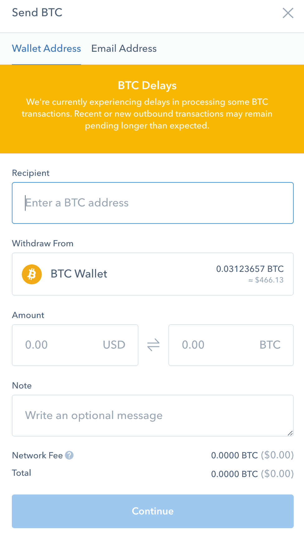 Send BTC To Binance