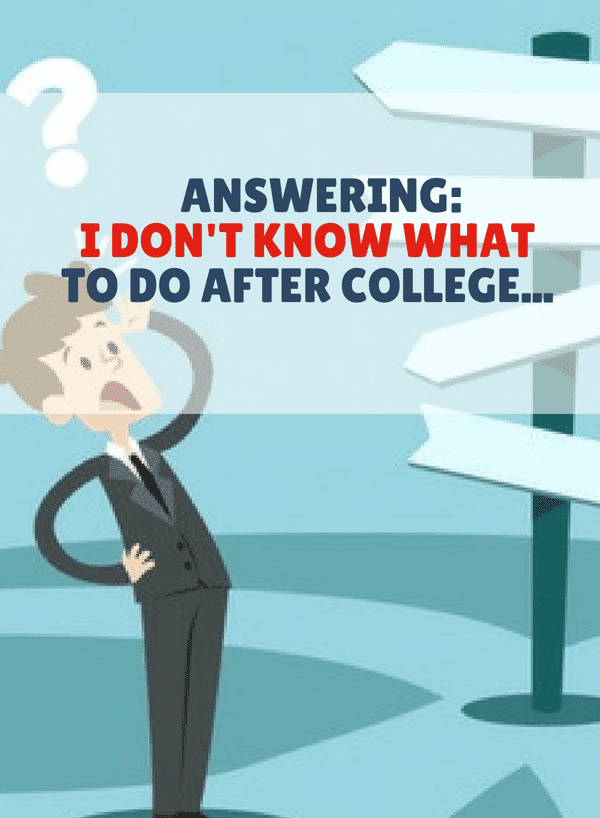 Not sure what you should do after college? You're not alone. Here are some helpful ideas that just might be what you're looking for.