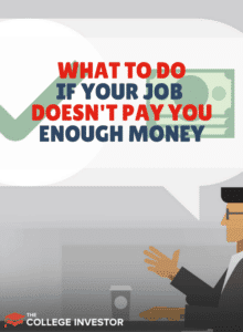 job doesn't pay you enough money