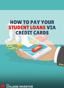 student loans via credit cards