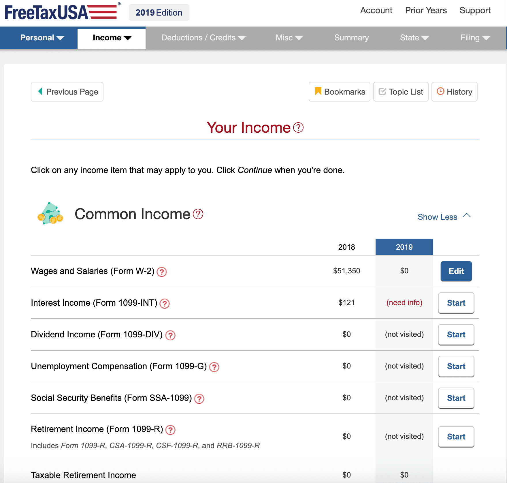 FreeTaxUSA Summary