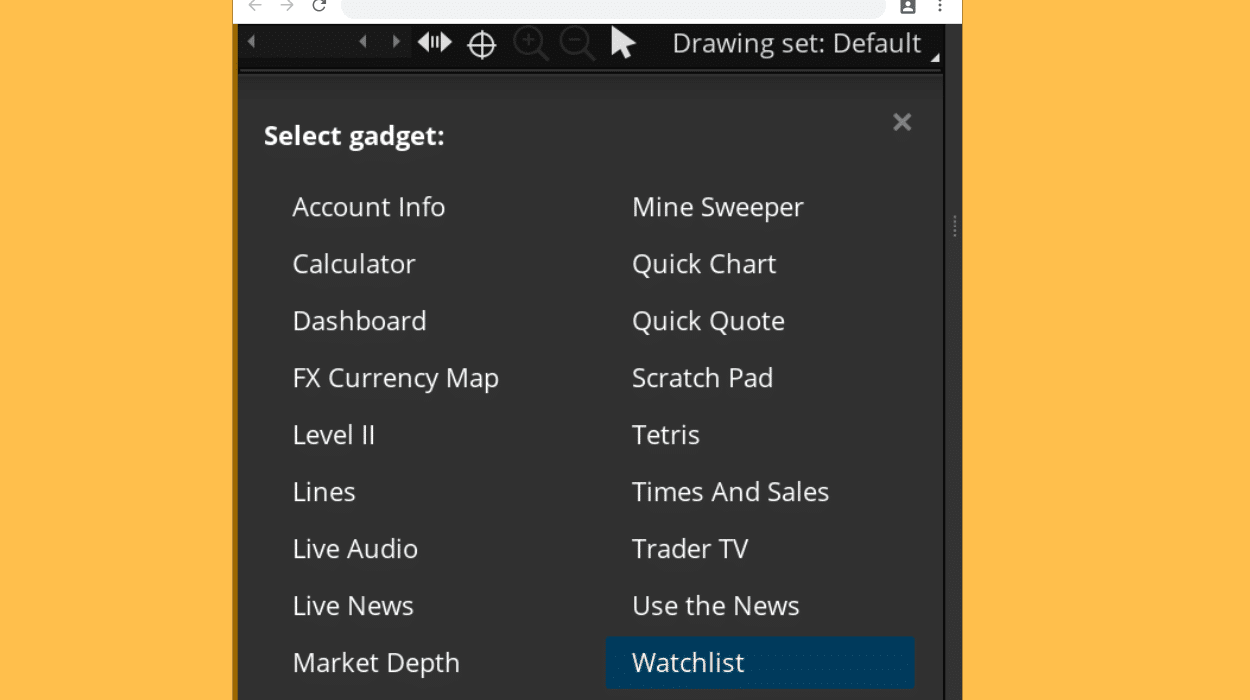 Setting Up TOS Layout