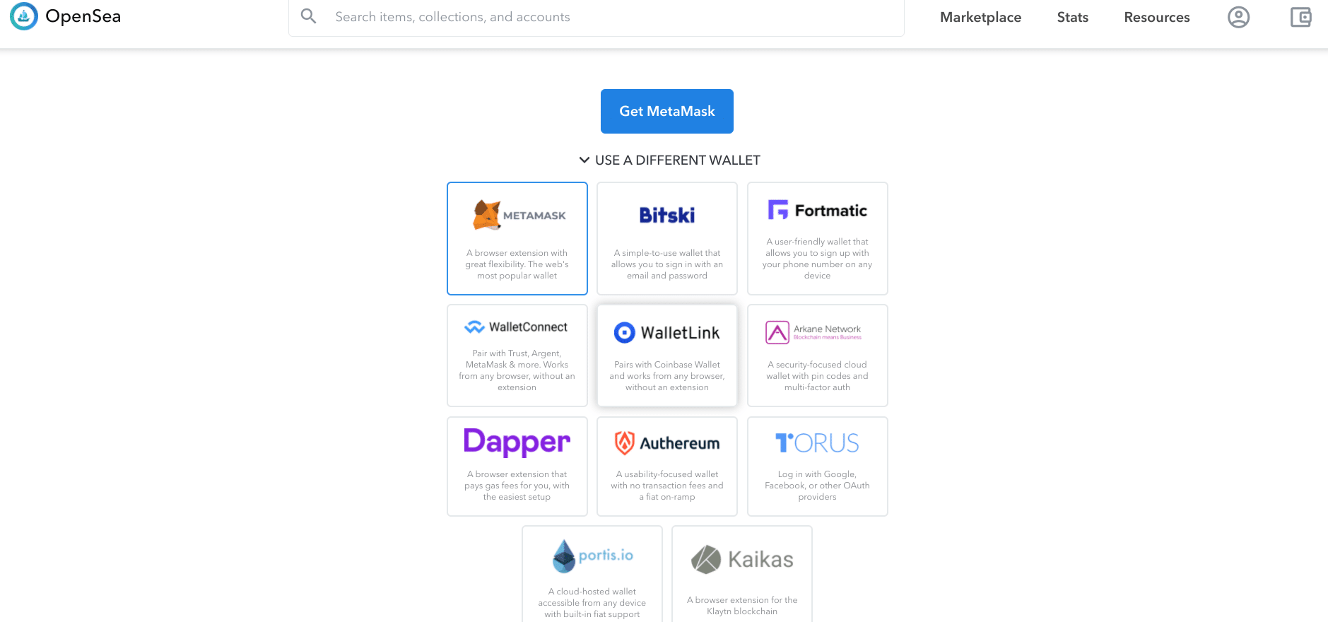 Supported wallets