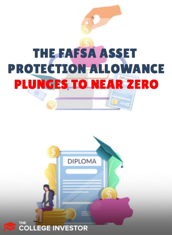 The FAFSA Asset Protection Allowance Plunges To Zero