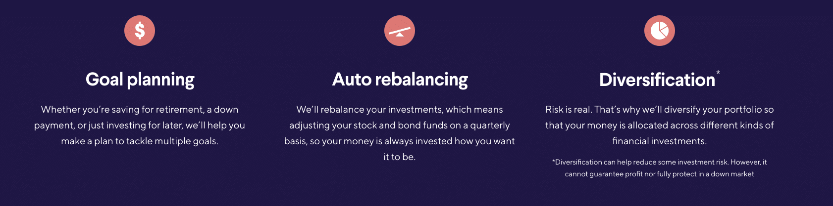 SoFi Automated Investing features